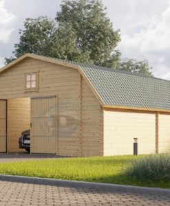 Træ Garage Texas 36m², 44mm