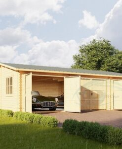 Triple garage 54 m², 44 mm/66mm