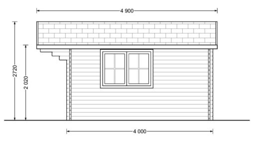 Bjælkehytte DREUX 19.9m²