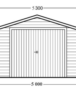 Træ garage 30m², 44mm - PLAN