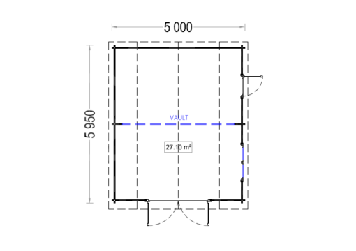 Garage Mississippi 30m², 44mm - plan
