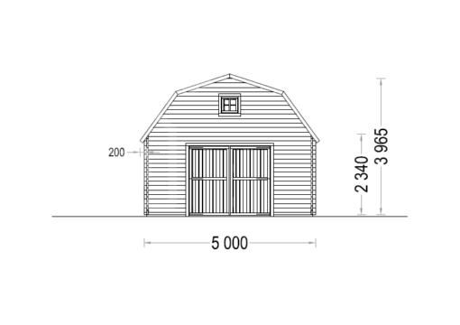 Garage Mississippi 30m², 44mm