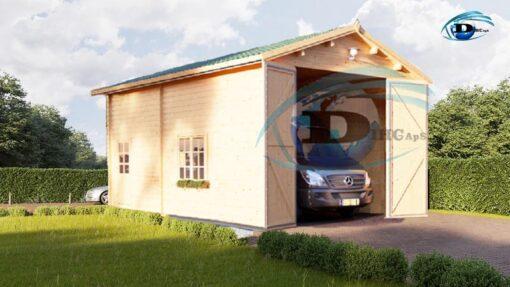 Høj garage 32m², 44mm