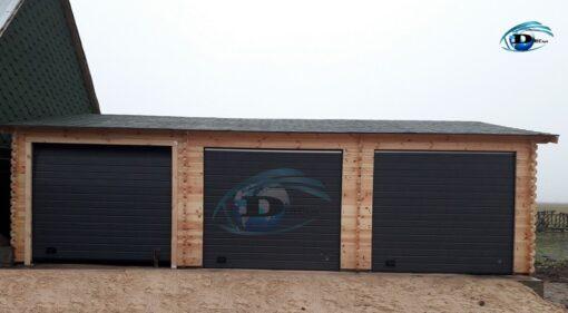 Triple garage 54 m², 44 mm/66mm