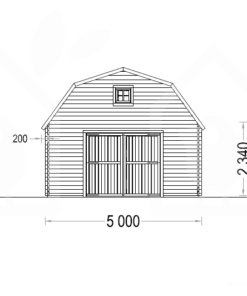 Garage Mississippi 30m², 44mm - PLAN