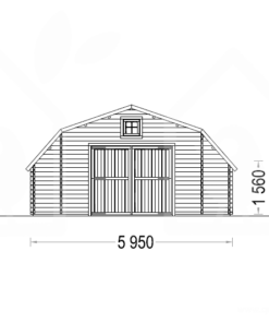 Træ Garage Texas 36m², 44mm - PLAN