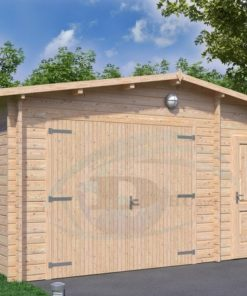 Garage med redskabsrum 5m x 5m, 44mm