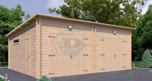 Dobbelt garage 7m x 5.5m, 44 mm
