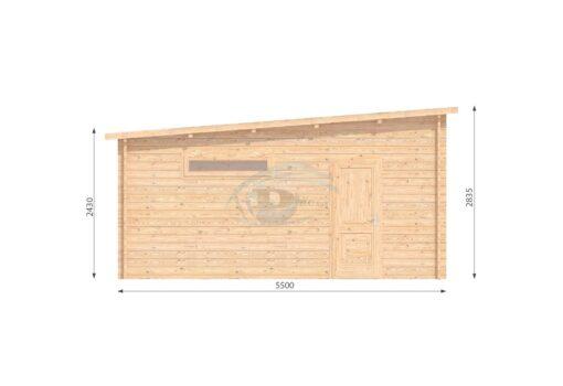 Dobbelt garage 7m x 5.5m- left