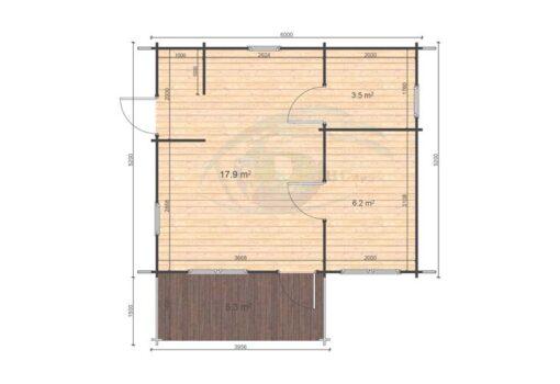 Hakan A 6x5.2 floor plan