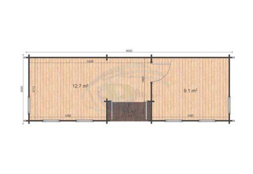 Helmand 3x9 floor plan
