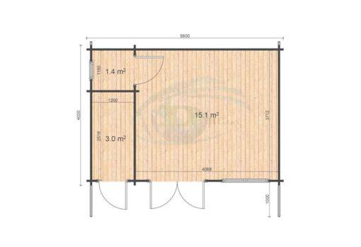 Roberto 5.6x4 floor plan
