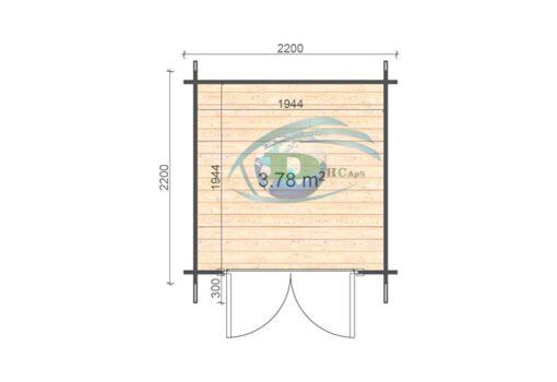 Bedford 2.2x2.2 floor plan