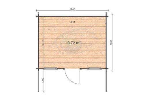 Genova 3.8x3 floor plan