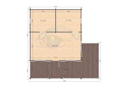 Gustav A 6x6 44mm floor plan