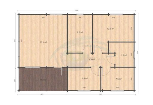 Klassisk feriehus 93,7m² Iberica T3, 68mm_floor plan