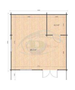 Linus 6x6 WC floor plan