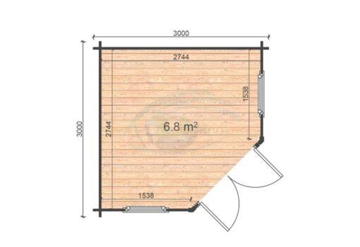Lukne 3x3 floor plan