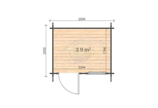 Mantova 2.5x2 floor plan