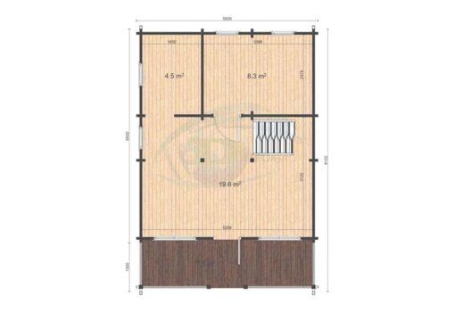 Max 5.6x6.6 floor plan