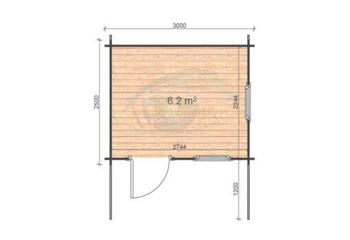 Modena 3x2.5 floor plan