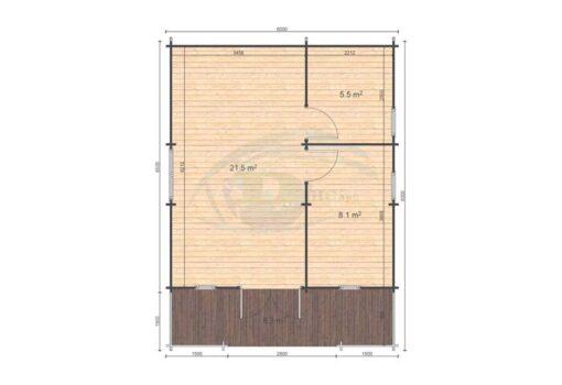 Padova B 6x6.5 floor plan