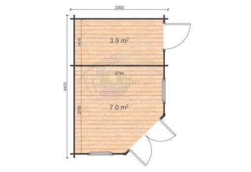 Rita 3x4.4 floor plan
