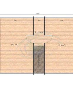 Sommerhus Verona 51,8m², 68mm_floor plan