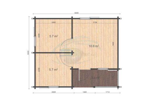 Veronica 5x6 floor plan