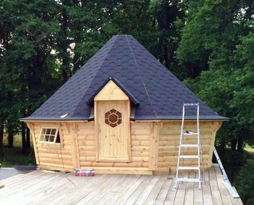 Eksklusiv grill og sauna hytte 16.5 m²
