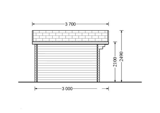 Bjælkehytte Olymp 12 m², 34mm