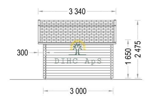 Haveskur Orlando 9 m², 32 mm