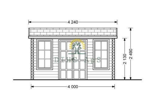 Havekontor Poolhouse 12m²