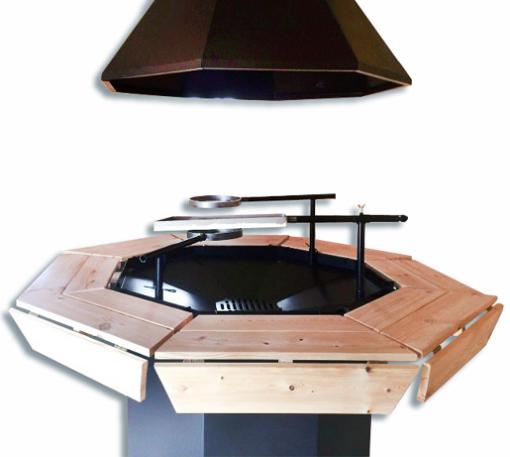 Standard BBQ grill og skorsten (8 hjørner)