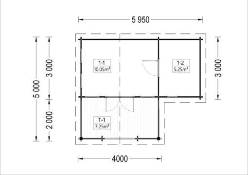 Feriehus ISLA 18m² + terrasse