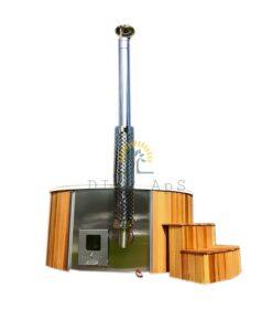 Vildmarksbad med cedar træbeklædning