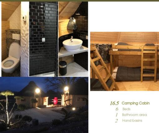 Camping Hytte 16.5 m² - PLAN