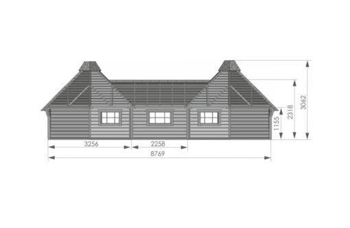 Camping Hytte 9.2 m² + 9.2 m² - PLAN