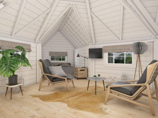 Camping hytte 9.2 m² med 2 udvidelser