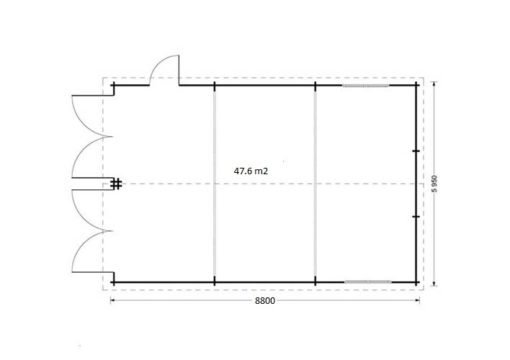 Dobbelt garage 49.9m² plan
