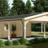 Garage med Dobbelt carport 53m², 44mm