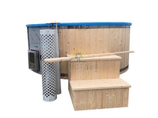 Vildmarksbad Deluxe 2 m / 2.2 m (Integreret ovn)