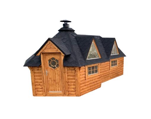 Camping - Grill hytte 9.2 m² med udvidelse