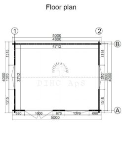 Havehytte Rumus 5 m x 4 m, 44 mm__floor plan