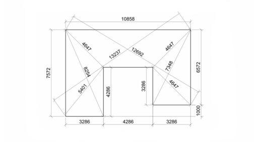 Glamping cube 51 m² (U shape) -Fundaments