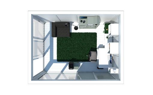 Isoleret cube - Havekontor (3 m x 4 m)