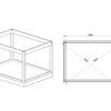 Isoleret cube - Havekontor (3 m x 4 m) - Fundament
