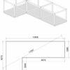 Glamping cube 42 m² (L shape) - FOUNDATION