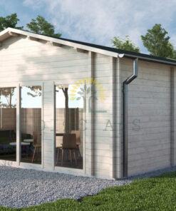 Bjælkehus Nora 591 cm x 771 cm (45.6 m²)