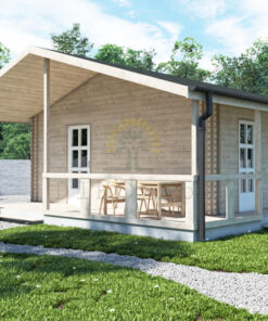 Bjælkehus Lavande A 570 cm x 500 cm (23.5 m²)